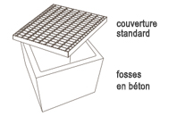 Grilles standards ou bouches d'égout
